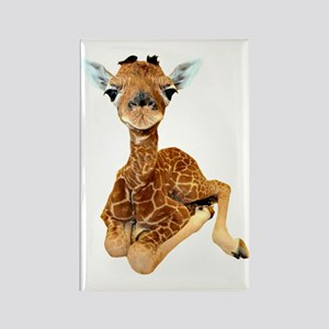 baby giraffe Rectangle Magnet